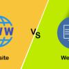 webpage-vs-website
